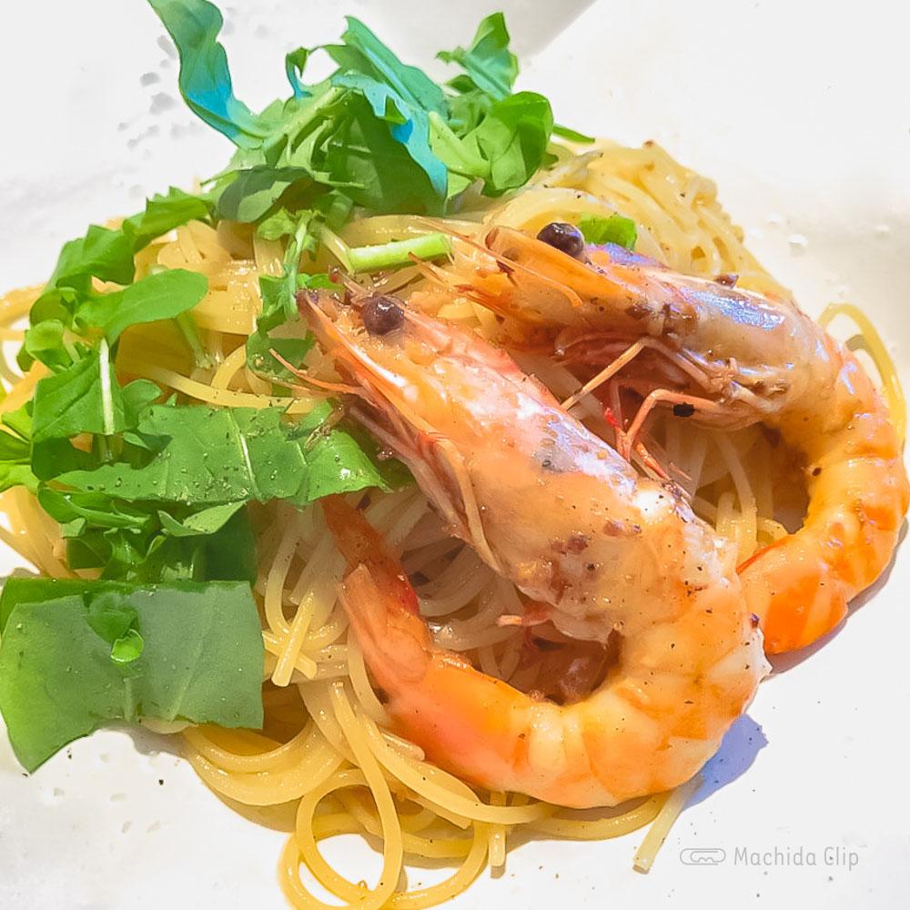 Bianco(ビアンコ)の「天然エビのペペロンチーノスパゲッティ」の写真