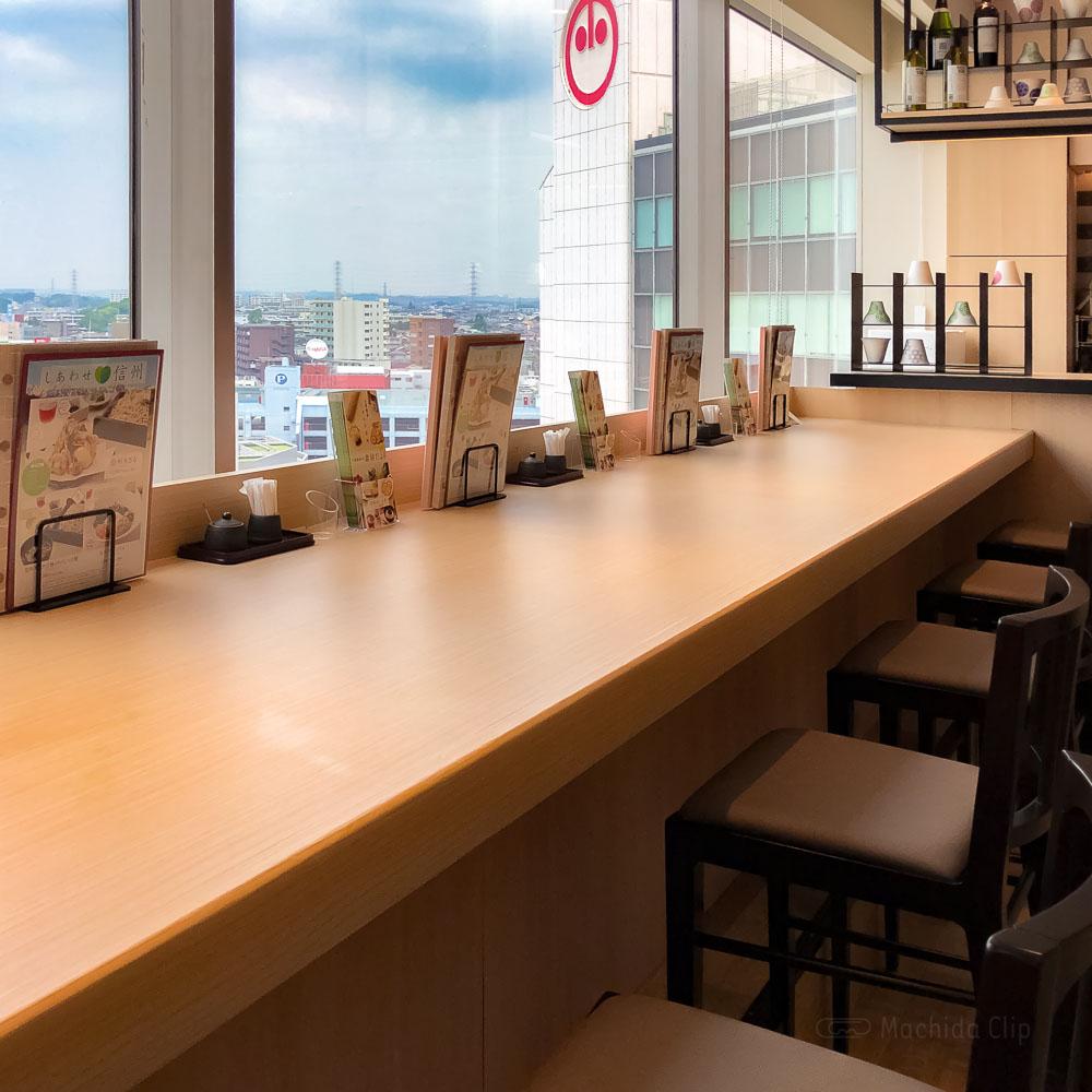 花旬庵(かしゅあん)町田モディ店のカウンター席の写真