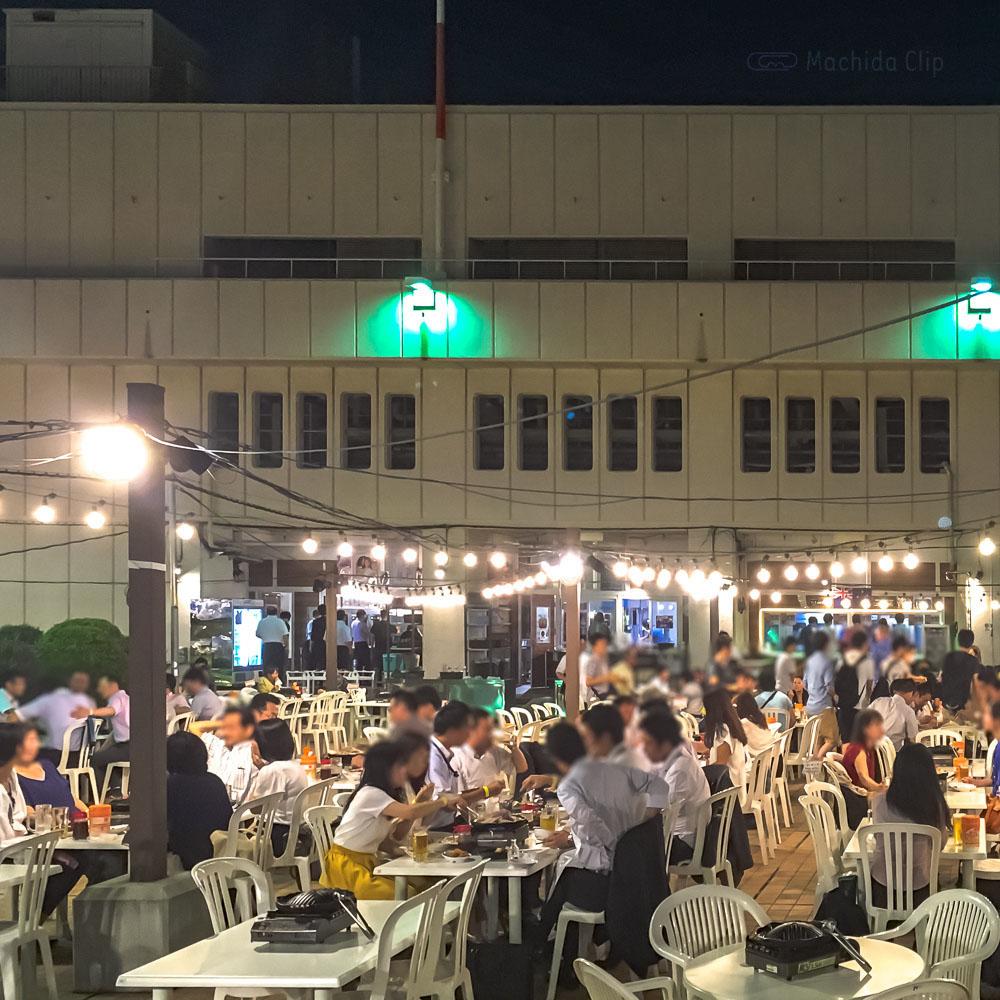 「小田急百貨店町田店 ビアガーデン」屋上でジンギスカン食べ放題!の写真