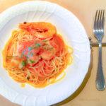 TERRA MAGICA(テラマジカ)の「天使の海老とホタテのトマトソース スパゲッティ」の写真