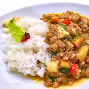 ベジフルスパイスの「彩り野菜のキーマカレー」の写真