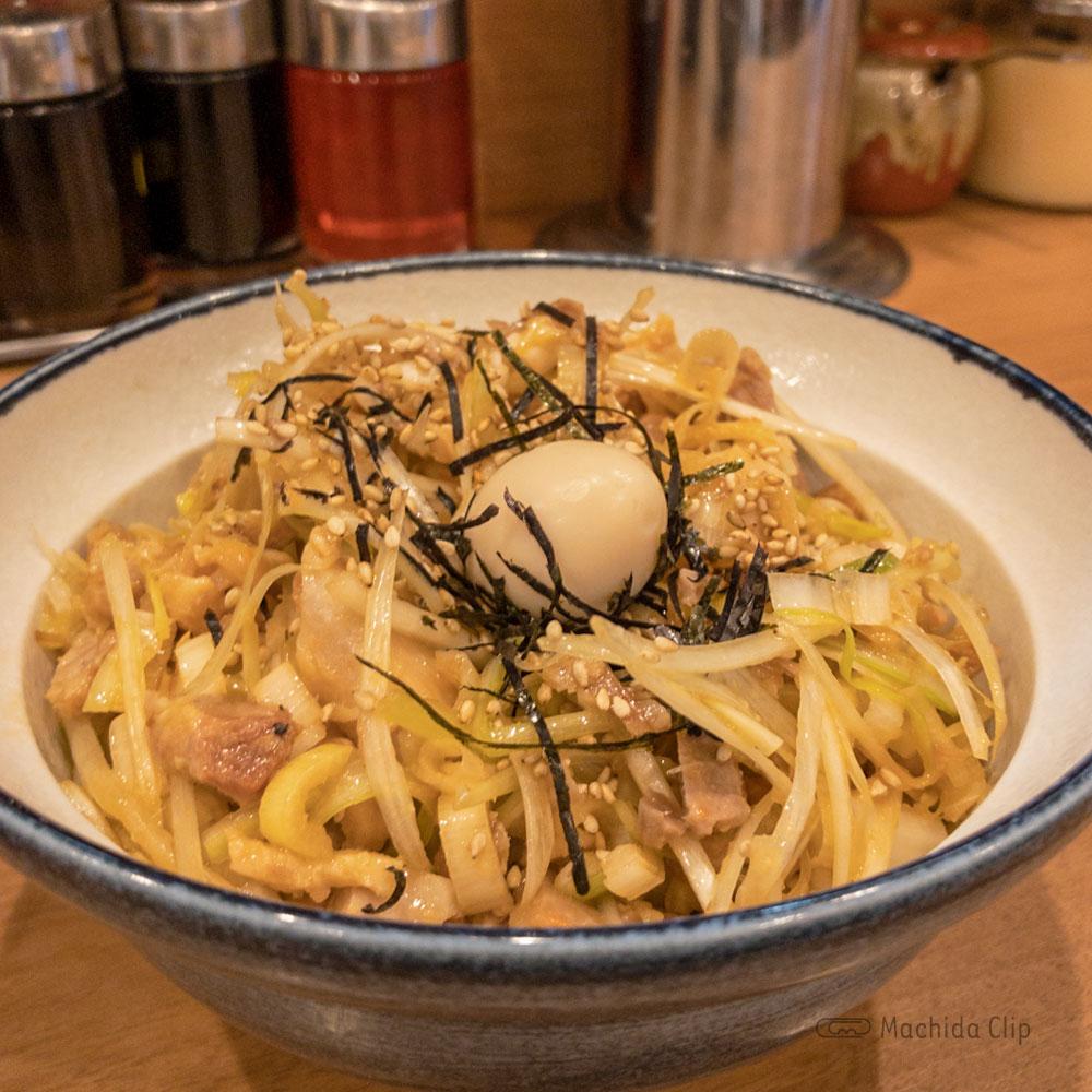 横浜家系ラーメン 町田商店 本店の「ネギチャ丼」の写真