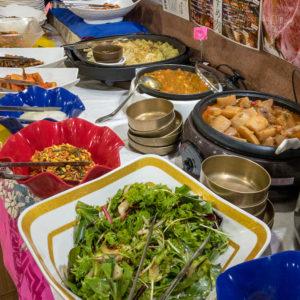 焼肉一楽(イチラク)のお惣菜ビュッフェの写真