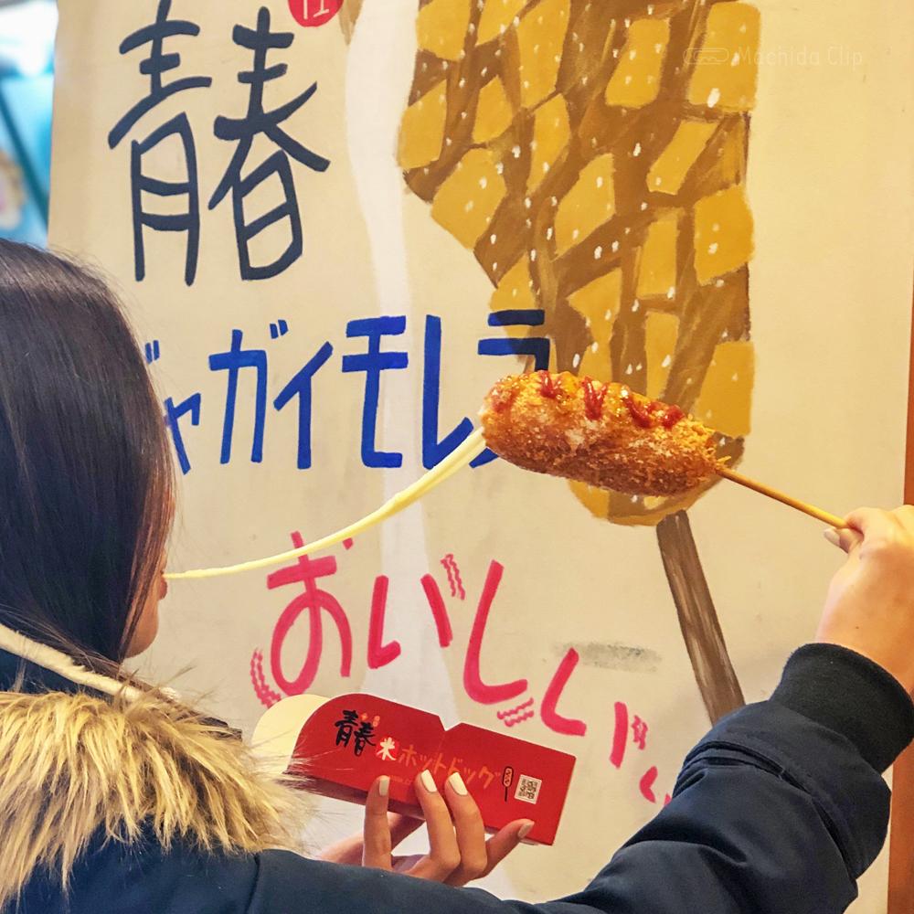 青春ホットドッグのチーズドッグの写真