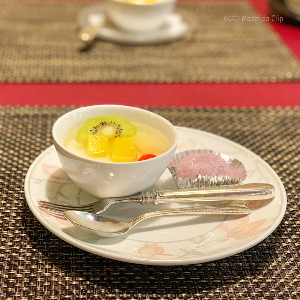 中華料理 龍皇のレディースランチのデザートの写真