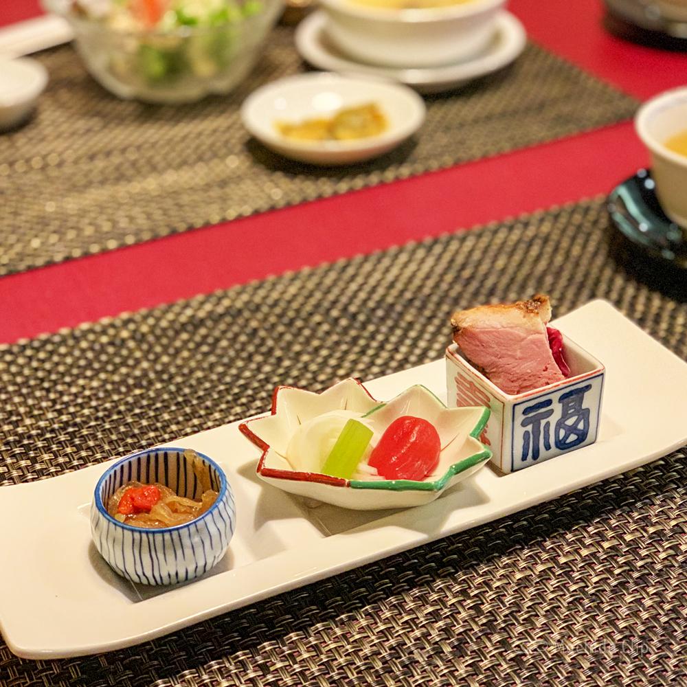 中華料理 龍皇のレディースランチ前菜の写真