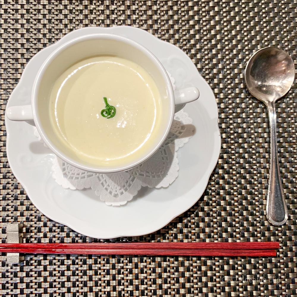鉄板 たかはしの冷製スープの写真