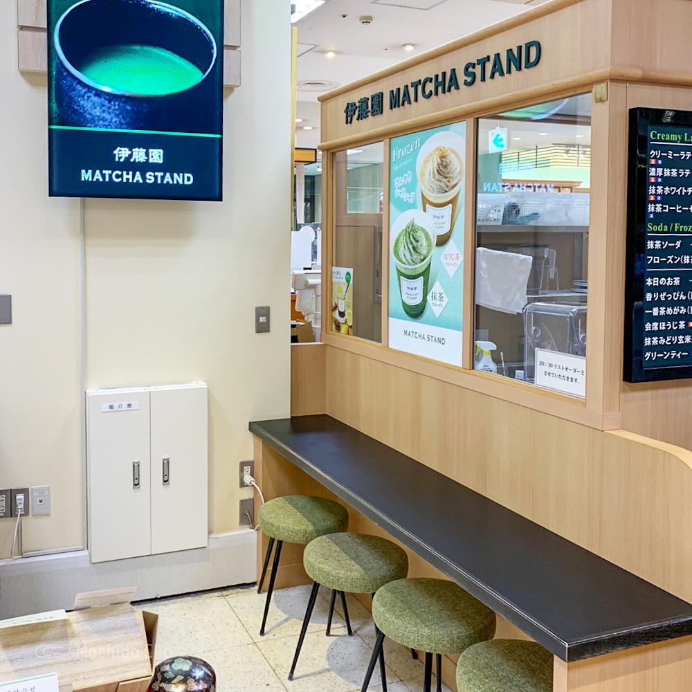 伊藤園MATCHA STANDの店内の写真