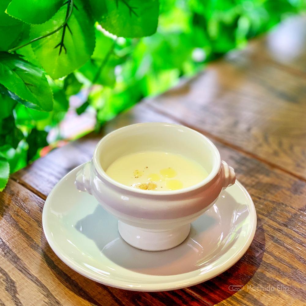 マチダイナーのスープの写真