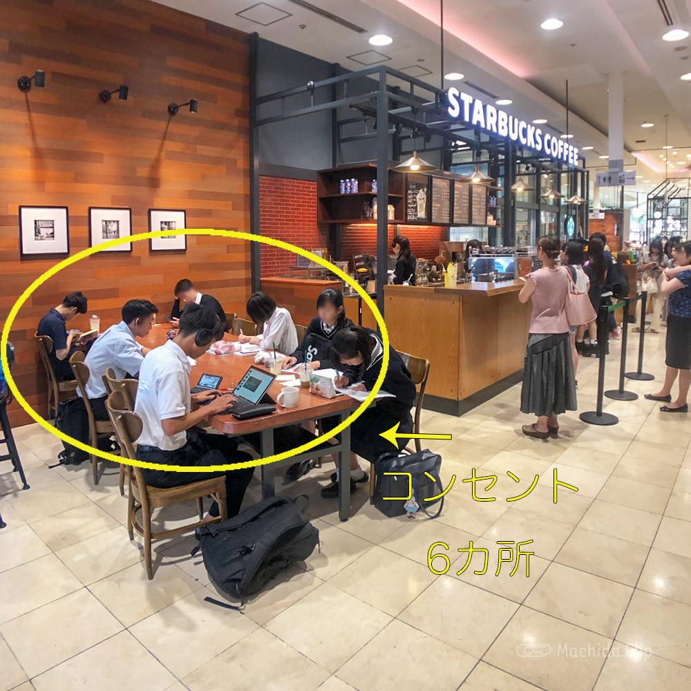 スターバックス東急ツインズ店の電源の写真