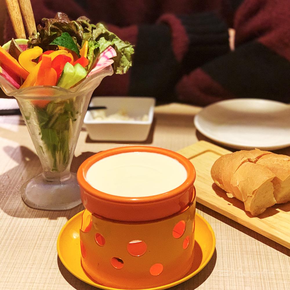 町田ガーデンファームのチーズフォンデュの写真