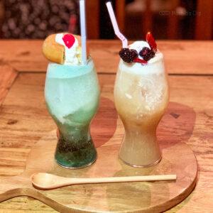 ランバリオン町田の108種類クリームソーダを飲んできた!バーが喫茶として限定営業の写真